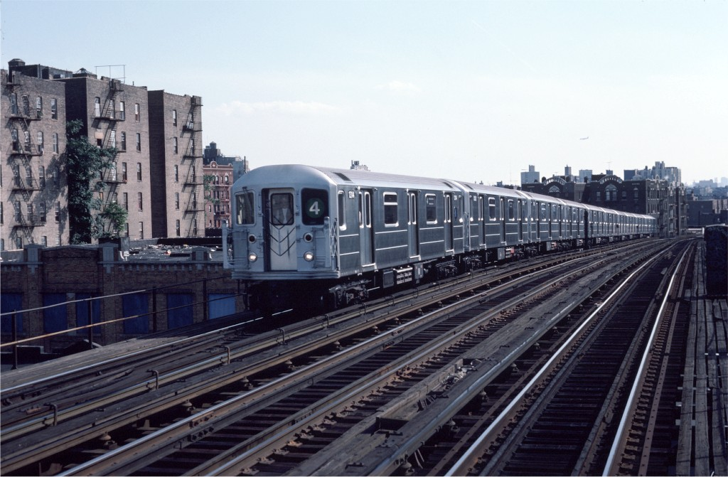 (180k, 1024x671)<br><b>Country:</b> United States<br><b>City:</b> New York<br><b>System:</b> New York City Transit<br><b>Line:</b> IRT Woodlawn Line<br><b>Location:</b> 183rd Street <br><b>Route:</b> 4<br><b>Car:</b> R-62 (Kawasaki, 1983-1985)  1314 <br><b>Photo by:</b> Eric Oszustowicz<br><b>Collection of:</b> Joe Testagrose<br><b>Date:</b> 8/18/1984<br><b>Viewed (this week/total):</b> 3 / 1080