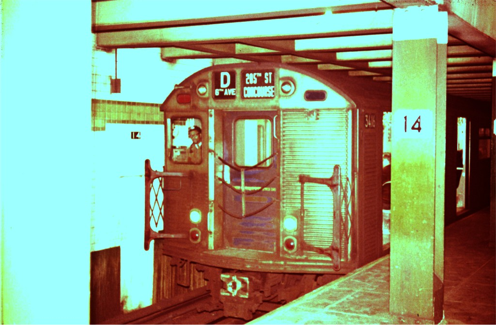 (156k, 1024x671)<br><b>Country:</b> United States<br><b>City:</b> New York<br><b>System:</b> New York City Transit<br><b>Line:</b> IND 6th Avenue Line<br><b>Location:</b> 14th Street <br><b>Route:</b> D<br><b>Car:</b> R-32 (Budd, 1964)  3416 <br><b>Photo by:</b> Steve Zabel<br><b>Collection of:</b> Joe Testagrose<br><b>Viewed (this week/total):</b> 1 / 350