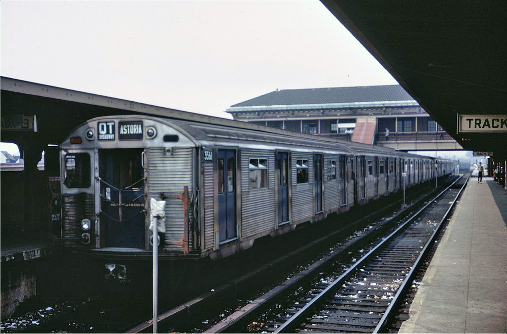 (182k, 1024x676)<br><b>Country:</b> United States<br><b>City:</b> New York<br><b>System:</b> New York City Transit<br><b>Location:</b> Coney Island/Stillwell Avenue<br><b>Route:</b> QT<br><b>Car:</b> R-32 (Budd, 1964)  3561 <br><b>Photo by:</b> Doug Grotjahn<br><b>Collection of:</b> Joe Testagrose<br><b>Date:</b> 8/7/1967<br><b>Viewed (this week/total):</b> 1 / 510