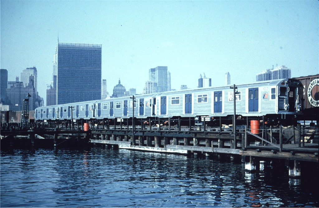 (235k, 1024x668)<br><b>Country:</b> United States<br><b>City:</b> New York<br><b>System:</b> Long Island Rail Road<br><b>Line:</b> LIRR Long Island City<br><b>Location:</b> Long Island City <br><b>Car:</b> R-32 (Budd, 1964)  3455 <br><b>Collection of:</b> Joe Testagrose<br><b>Viewed (this week/total):</b> 5 / 665