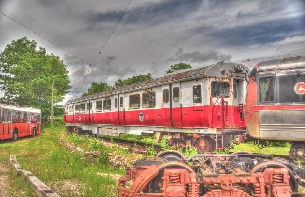(374k, 1024x663)<br><b>Country:</b> United States<br><b>City:</b> Kennebunk, ME<br><b>System:</b> Seashore Trolley Museum <br><b>Car:</b> MBTA 01400 Series (Pullman-Standard, 1963)  01450 <br><b>Photo by:</b> David Pirmann<br><b>Date:</b> 6/26/2011<br><b>Viewed (this week/total):</b> 3 / 264