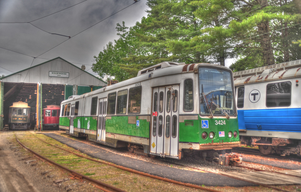(386k, 1024x653)<br><b>Country:</b> United States<br><b>City:</b> Kennebunk, ME<br><b>System:</b> Seashore Trolley Museum <br><b>Car:</b> MBTA Standard LRV (Boeing-Vertol, 1976-78)  3424 <br><b>Photo by:</b> David Pirmann<br><b>Date:</b> 6/26/2011<br><b>Viewed (this week/total):</b> 1 / 282