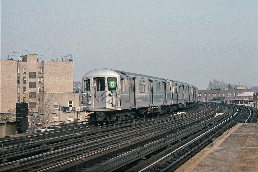 (305k, 1024x683)<br><b>Country:</b> United States<br><b>City:</b> New York<br><b>System:</b> New York City Transit<br><b>Line:</b> IRT Pelham Line<br><b>Location:</b> Buhre Avenue <br><b>Car:</b> R-62A (Bombardier, 1984-1987)  1865 <br><b>Photo by:</b> Steve Zabel<br><b>Collection of:</b> Joe Testagrose<br><b>Date:</b> 11/8/1987<br><b>Viewed (this week/total):</b> 6 / 1071