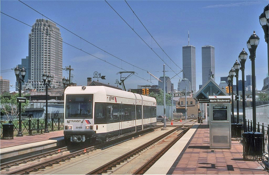 (313k, 1024x668)<br><b>Country:</b> United States<br><b>City:</b> Jersey City, NJ<br><b>System:</b> Hudson Bergen Light Rail<br><b>Location:</b> Marin Boulevard <br><b>Car:</b> NJT-HBLR LRV (Kinki-Sharyo, 1998-99)  2010 <br><b>Photo by:</b> Eric Oszustowicz<br><b>Collection of:</b> Joe Testagrose<br><b>Date:</b> 5/14/2000<br><b>Viewed (this week/total):</b> 2 / 233