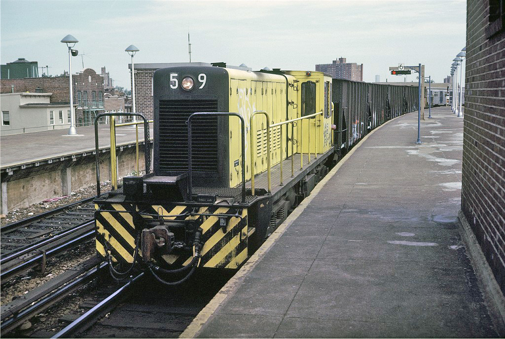 (360k, 1024x689)<br><b>Country:</b> United States<br><b>City:</b> New York<br><b>System:</b> New York City Transit<br><b>Location:</b> Coney Island/Stillwell Avenue<br><b>Route:</b> Work Service<br><b>Car:</b> R-41 Locomotive  59 <br><b>Photo by:</b> Doug Grotjahn<br><b>Collection of:</b> Joe Testagrose<br><b>Date:</b> 5/19/1974<br><b>Viewed (this week/total):</b> 0 / 206