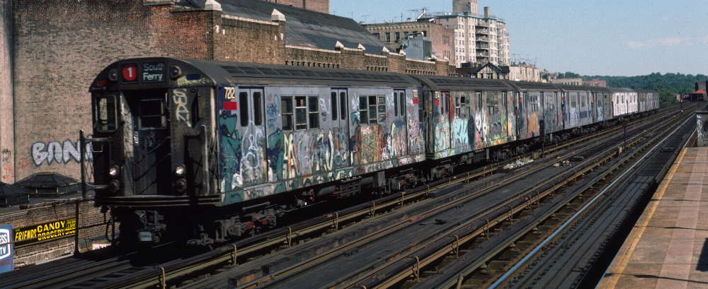 (71k, 1000x409)<br><b>Country:</b> United States<br><b>City:</b> New York<br><b>System:</b> New York City Transit<br><b>Line:</b> IRT West Side Line<br><b>Location:</b> 231st Street <br><b>Route:</b> 1<br><b>Car:</b> R-21 (St. Louis, 1956-57) 7212 <br><b>Photo by:</b> Robert Callahan<br><b>Date:</b> 9/22/1984<br><b>Viewed (this week/total):</b> 1 / 244