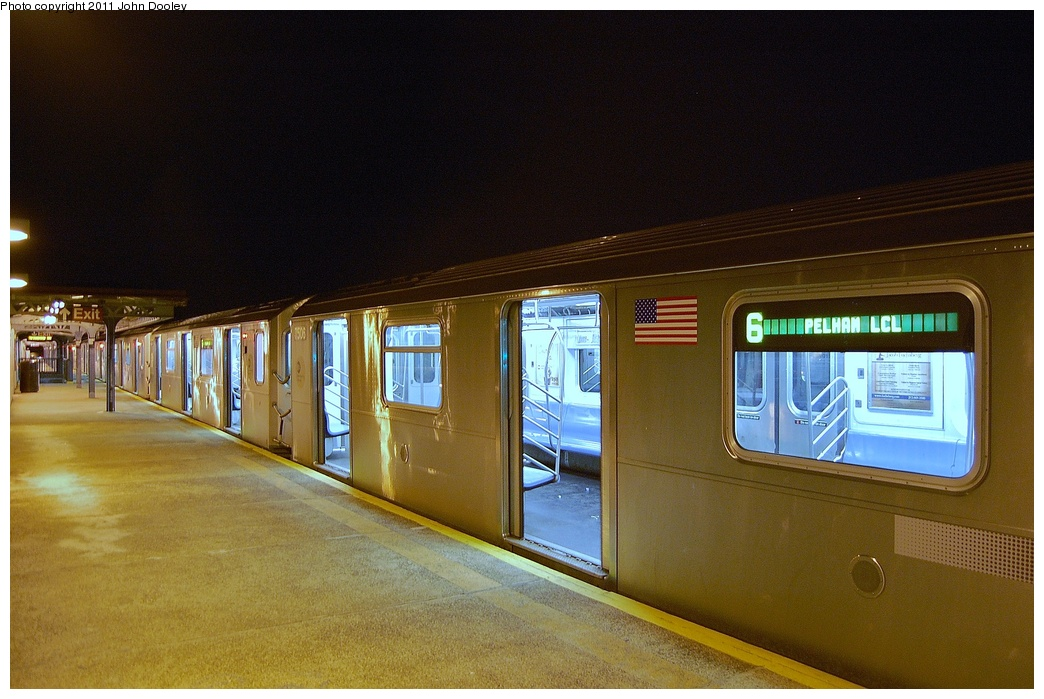 (323k, 1044x699)<br><b>Country:</b> United States<br><b>City:</b> New York<br><b>System:</b> New York City Transit<br><b>Line:</b> IRT Pelham Line<br><b>Location:</b> Pelham Bay Park <br><b>Route:</b> 6<br><b>Car:</b> R-142A (Primary Order, Kawasaki, 1999-2002)  7506 <br><b>Photo by:</b> John Dooley<br><b>Date:</b> 3/2/2011<br><b>Viewed (this week/total):</b> 3 / 1620