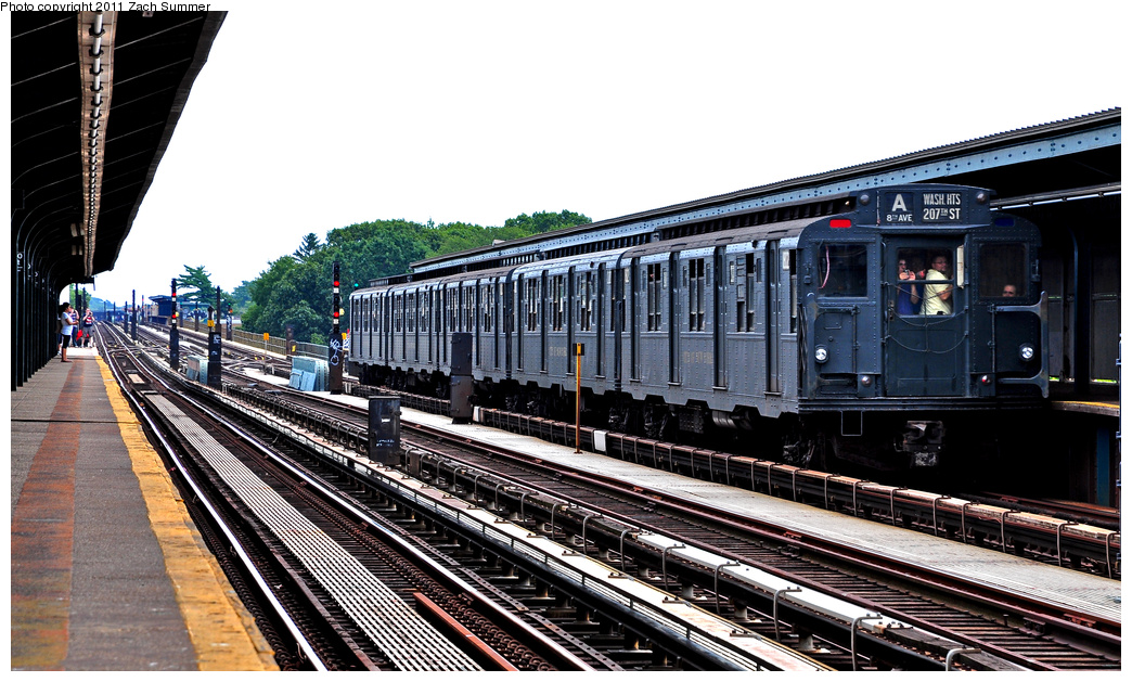 (380k, 1044x629)<br><b>Country:</b> United States<br><b>City:</b> New York<br><b>System:</b> New York City Transit<br><b>Line:</b> IND Fulton Street Line<br><b>Location:</b> 80th Street/Hudson Street <br><b>Route:</b> Transit Museum Nostalgia Train<br><b>Car:</b> R-9 (Pressed Steel, 1940)  1802 <br><b>Photo by:</b> Zach Summer<br><b>Date:</b> 7/23/2011<br><b>Viewed (this week/total):</b> 6 / 507
