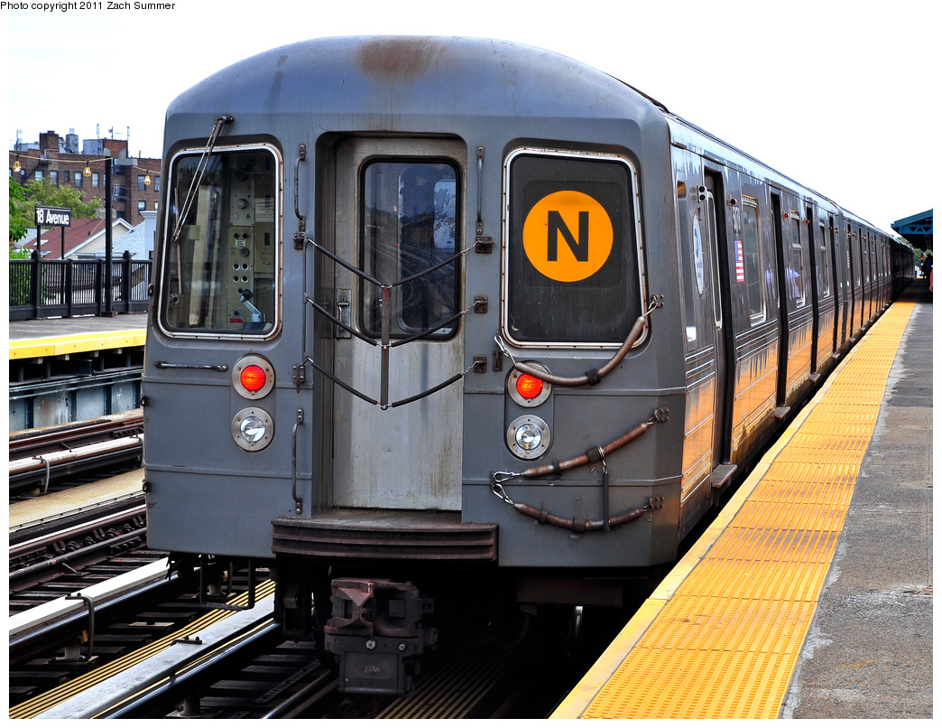 (459k, 1044x806)<br><b>Country:</b> United States<br><b>City:</b> New York<br><b>System:</b> New York City Transit<br><b>Line:</b> BMT West End Line<br><b>Location:</b> 18th Avenue <br><b>Route:</b> N Reroute<br><b>Car:</b> R-68A (Kawasaki, 1988-1989)  5078 <br><b>Photo by:</b> Zach Summer<br><b>Date:</b> 7/23/2011<br><b>Viewed (this week/total):</b> 3 / 438