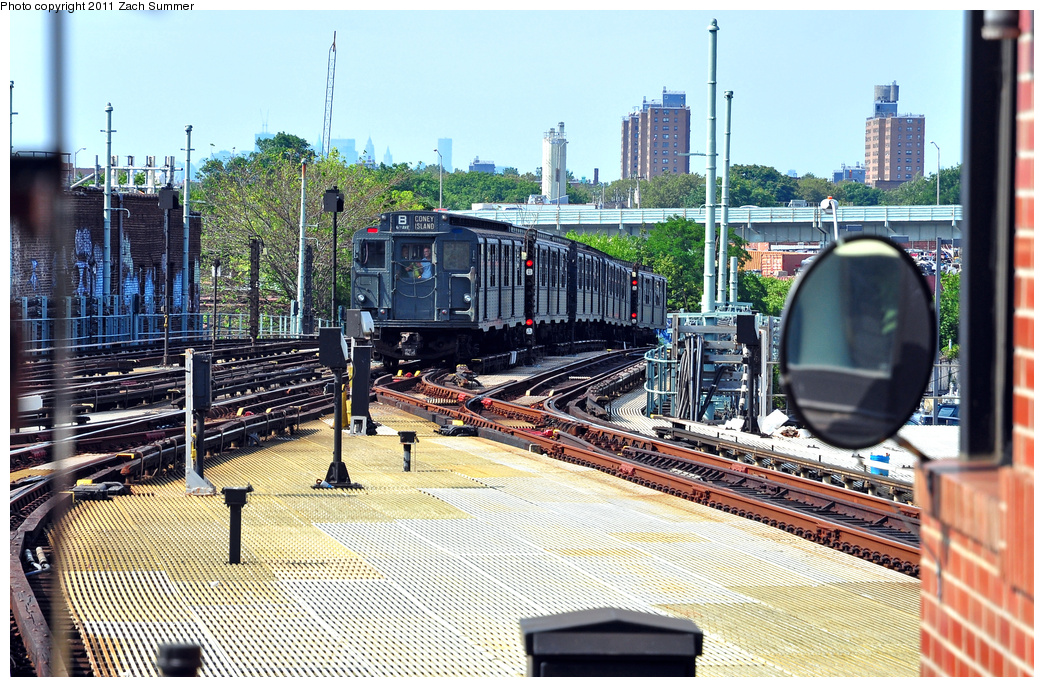 (500k, 1044x687)<br><b>Country:</b> United States<br><b>City:</b> New York<br><b>System:</b> New York City Transit<br><b>Location:</b> Coney Island/Stillwell Avenue<br><b>Route:</b> Transit Museum Nostalgia Train<br><b>Car:</b> R-9 (Pressed Steel, 1940)  1802 <br><b>Photo by:</b> Zach Summer<br><b>Date:</b> 7/23/2011<br><b>Viewed (this week/total):</b> 0 / 557