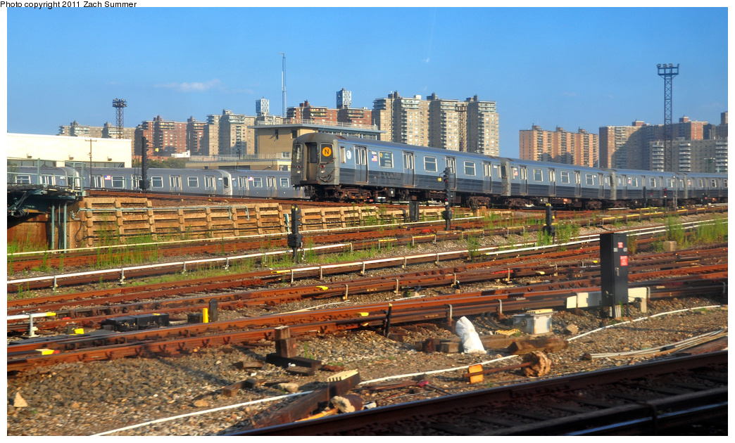 (418k, 1044x630)<br><b>Country:</b> United States<br><b>City:</b> New York<br><b>System:</b> New York City Transit<br><b>Location:</b> Coney Island Yard<br><b>Car:</b> R-68A (Kawasaki, 1988-1989)  5004 <br><b>Photo by:</b> Zach Summer<br><b>Date:</b> 7/26/2011<br><b>Viewed (this week/total):</b> 2 / 1262