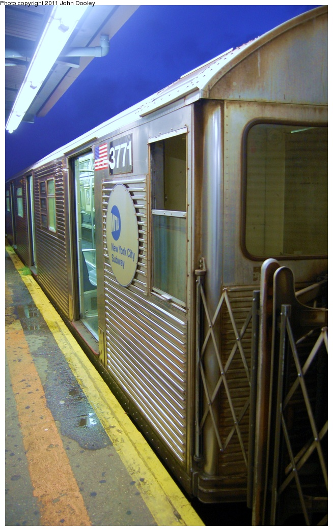 (309k, 654x1044)<br><b>Country:</b> United States<br><b>City:</b> New York<br><b>System:</b> New York City Transit<br><b>Line:</b> IND Fulton Street Line<br><b>Location:</b> Lefferts Boulevard <br><b>Route:</b> A<br><b>Car:</b> R-32 (Budd, 1964)  3771 <br><b>Photo by:</b> John Dooley<br><b>Date:</b> 7/29/2011<br><b>Viewed (this week/total):</b> 1 / 213