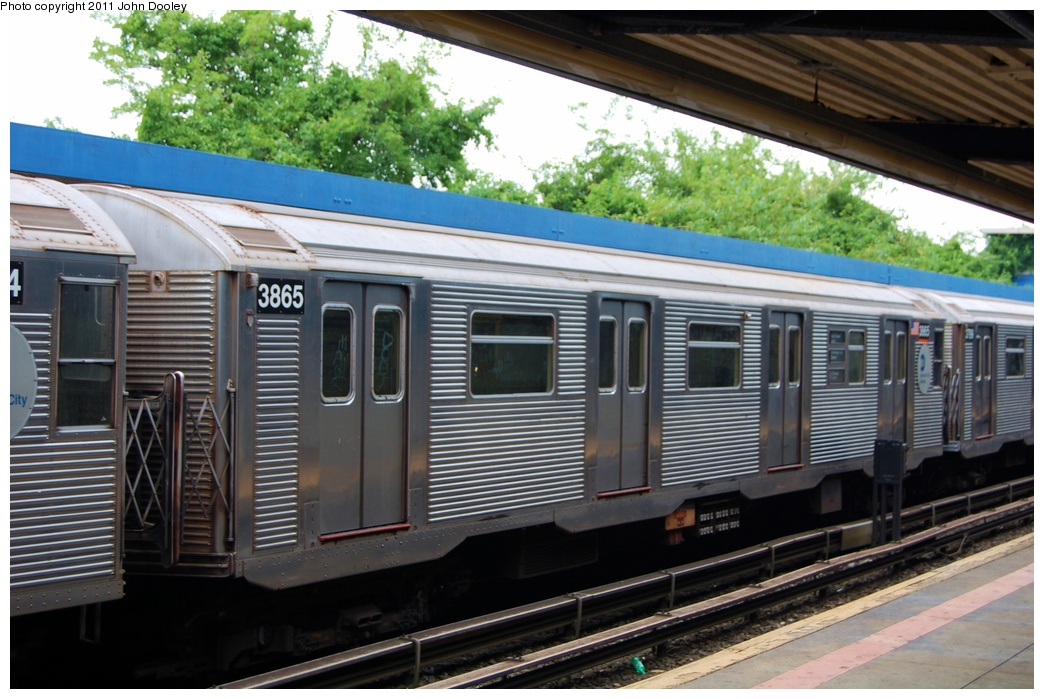(316k, 1044x699)<br><b>Country:</b> United States<br><b>City:</b> New York<br><b>System:</b> New York City Transit<br><b>Line:</b> IND Rockaway<br><b>Location:</b> Broad Channel <br><b>Route:</b> A<br><b>Car:</b> R-32 (Budd, 1964)  3865 <br><b>Photo by:</b> John Dooley<br><b>Date:</b> 7/24/2011<br><b>Viewed (this week/total):</b> 5 / 152