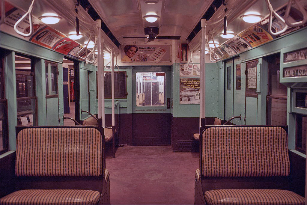 (349k, 1024x684)<br><b>Country:</b> United States<br><b>City:</b> New York<br><b>System:</b> New York City Transit<br><b>Location:</b> New York Transit Museum<br><b>Car:</b> R-4 (American Car & Foundry, 1932-1933) 484 <br><b>Photo by:</b> Doug Grotjahn<br><b>Collection of:</b> Joe Testagrose<br><b>Date:</b> 11/14/1976<br><b>Viewed (this week/total):</b> 2 / 606