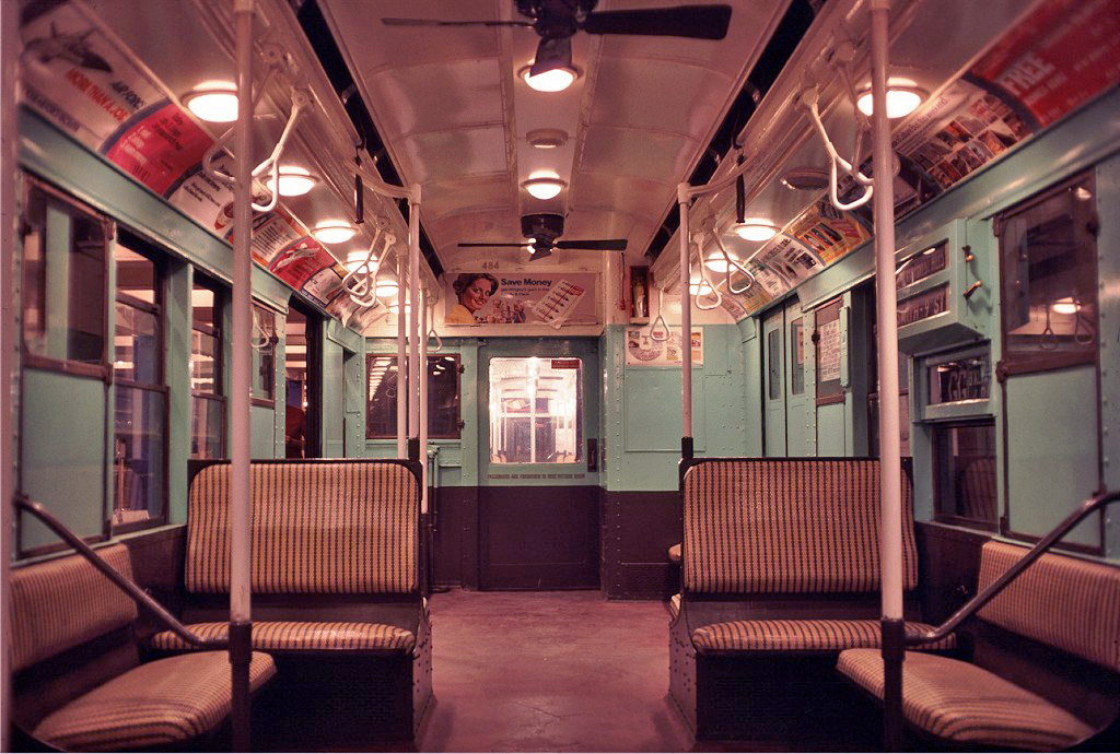 (298k, 1024x690)<br><b>Country:</b> United States<br><b>City:</b> New York<br><b>System:</b> New York City Transit<br><b>Location:</b> New York Transit Museum<br><b>Car:</b> R-4 (American Car & Foundry, 1932-1933) 484 <br><b>Photo by:</b> Doug Grotjahn<br><b>Collection of:</b> Joe Testagrose<br><b>Date:</b> 9/19/1976<br><b>Viewed (this week/total):</b> 4 / 396