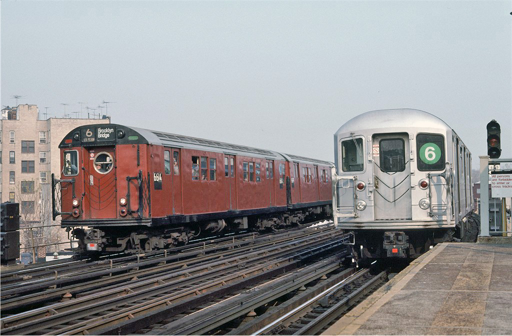 (281k, 1024x672)<br><b>Country:</b> United States<br><b>City:</b> New York<br><b>System:</b> New York City Transit<br><b>Line:</b> IRT Pelham Line<br><b>Location:</b> Buhre Avenue <br><b>Route:</b> Fan Trip<br><b>Car:</b> R-17 (St. Louis, 1955-56) 6614 <br><b>Photo by:</b> Steve Zabel<br><b>Collection of:</b> Joe Testagrose<br><b>Date:</b> 11/8/1987<br><b>Viewed (this week/total):</b> 0 / 1039