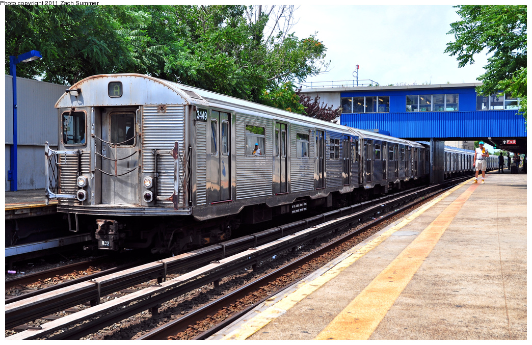 (509k, 1044x677)<br><b>Country:</b> United States<br><b>City:</b> New York<br><b>System:</b> New York City Transit<br><b>Line:</b> IND Rockaway<br><b>Location:</b> Broad Channel <br><b>Route:</b> A<br><b>Car:</b> R-32 (Budd, 1964)  3449 <br><b>Photo by:</b> Zach Summer<br><b>Date:</b> 7/28/2011<br><b>Viewed (this week/total):</b> 3 / 1008