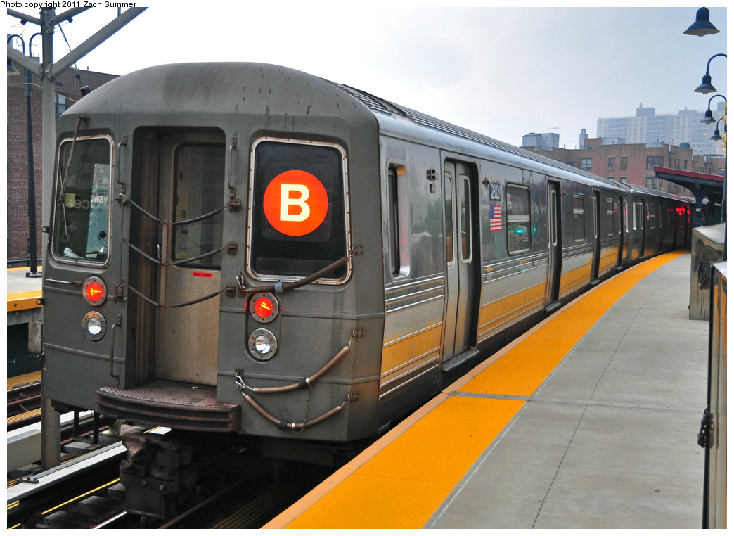 (361k, 1044x762)<br><b>Country:</b> United States<br><b>City:</b> New York<br><b>System:</b> New York City Transit<br><b>Line:</b> BMT Brighton Line<br><b>Location:</b> Ocean Parkway <br><b>Route:</b> B Yard Move<br><b>Car:</b> R-68 (Westinghouse-Amrail, 1986-1988)  2812 <br><b>Photo by:</b> Zach Summer<br><b>Date:</b> 7/29/2011<br><b>Viewed (this week/total):</b> 2 / 677