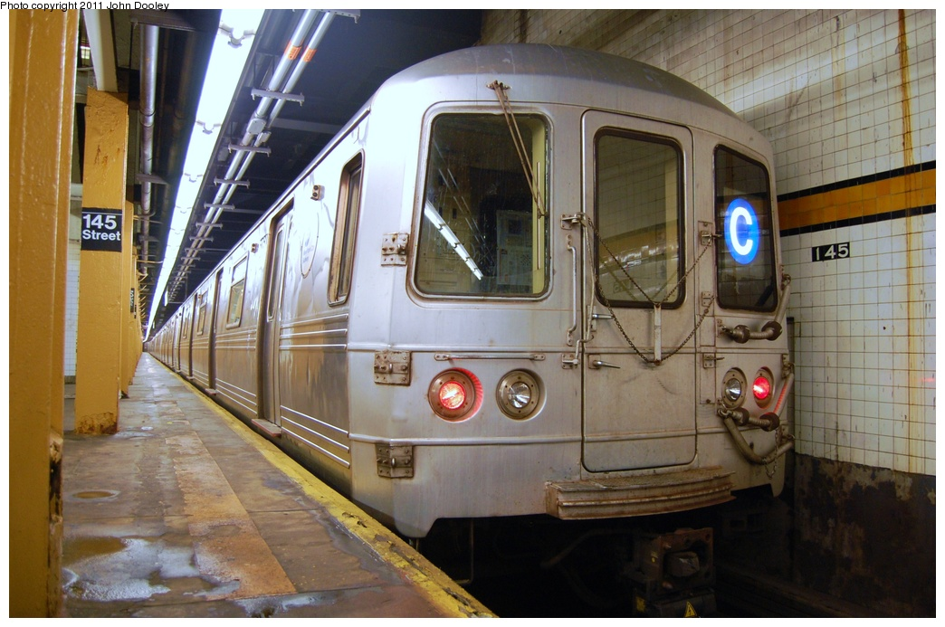 (312k, 1044x693)<br><b>Country:</b> United States<br><b>City:</b> New York<br><b>System:</b> New York City Transit<br><b>Line:</b> IND 8th Avenue Line<br><b>Location:</b> 145th Street <br><b>Route:</b> C<br><b>Car:</b> R-46 (Pullman-Standard, 1974-75) 6064 <br><b>Photo by:</b> John Dooley<br><b>Date:</b> 8/15/2011<br><b>Viewed (this week/total):</b> 6 / 694