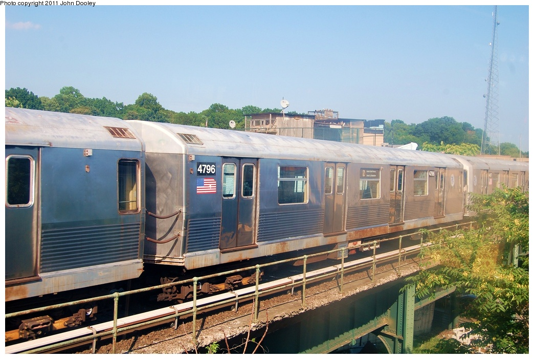 (333k, 1044x701)<br><b>Country:</b> United States<br><b>City:</b> New York<br><b>System:</b> New York City Transit<br><b>Location:</b> East New York Yard/Shops<br><b>Car:</b> R-42 (St. Louis, 1969-1970)  4796 <br><b>Photo by:</b> John Dooley<br><b>Date:</b> 8/17/2011<br><b>Viewed (this week/total):</b> 0 / 180