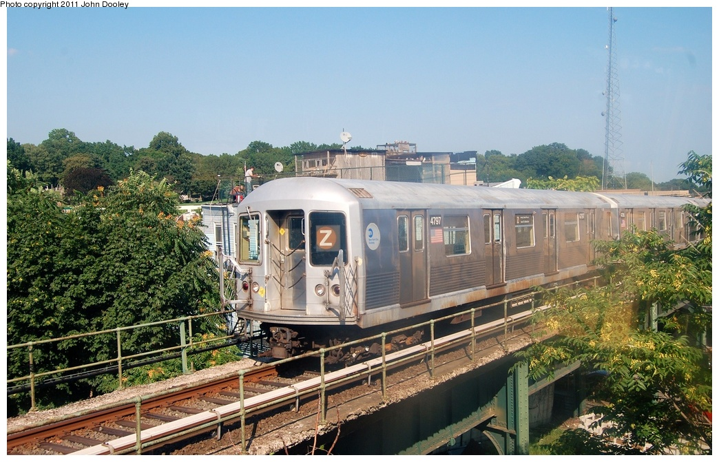 (363k, 1044x671)<br><b>Country:</b> United States<br><b>City:</b> New York<br><b>System:</b> New York City Transit<br><b>Location:</b> East New York Yard/Shops<br><b>Car:</b> R-42 (St. Louis, 1969-1970)  4797 <br><b>Photo by:</b> John Dooley<br><b>Date:</b> 8/17/2011<br><b>Viewed (this week/total):</b> 4 / 522