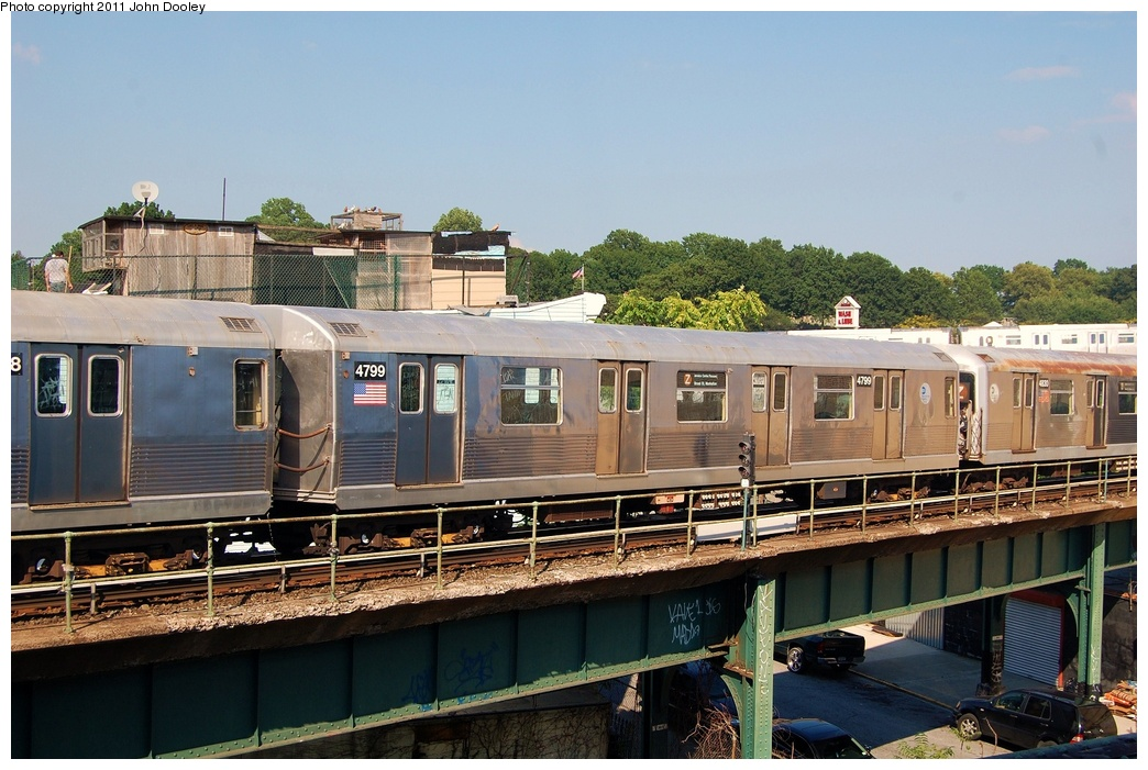 (332k, 1044x701)<br><b>Country:</b> United States<br><b>City:</b> New York<br><b>System:</b> New York City Transit<br><b>Location:</b> East New York Yard/Shops<br><b>Car:</b> R-42 (St. Louis, 1969-1970)  4799 <br><b>Photo by:</b> John Dooley<br><b>Date:</b> 8/17/2011<br><b>Viewed (this week/total):</b> 0 / 312