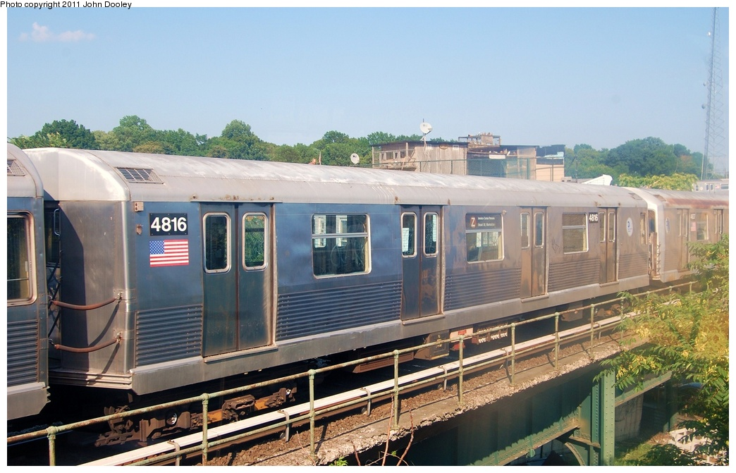 (308k, 1044x671)<br><b>Country:</b> United States<br><b>City:</b> New York<br><b>System:</b> New York City Transit<br><b>Location:</b> East New York Yard/Shops<br><b>Car:</b> R-42 (St. Louis, 1969-1970)  4816 <br><b>Photo by:</b> John Dooley<br><b>Date:</b> 8/17/2011<br><b>Viewed (this week/total):</b> 1 / 157