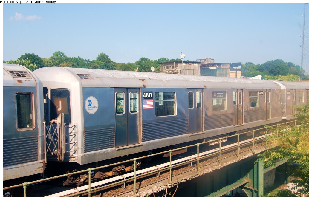 (296k, 1044x671)<br><b>Country:</b> United States<br><b>City:</b> New York<br><b>System:</b> New York City Transit<br><b>Location:</b> East New York Yard/Shops<br><b>Car:</b> R-42 (St. Louis, 1969-1970)  4817 <br><b>Photo by:</b> John Dooley<br><b>Date:</b> 8/17/2011<br><b>Viewed (this week/total):</b> 2 / 185