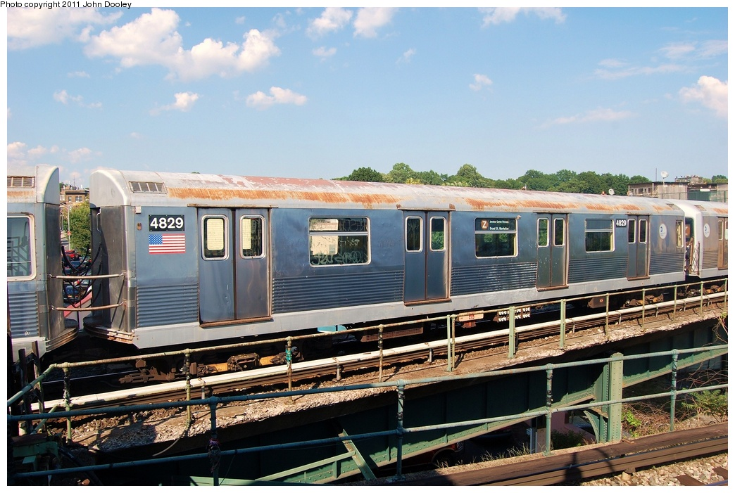 (341k, 1044x701)<br><b>Country:</b> United States<br><b>City:</b> New York<br><b>System:</b> New York City Transit<br><b>Location:</b> East New York Yard/Shops<br><b>Car:</b> R-42 (St. Louis, 1969-1970)  4829 <br><b>Photo by:</b> John Dooley<br><b>Date:</b> 8/17/2011<br><b>Viewed (this week/total):</b> 1 / 128