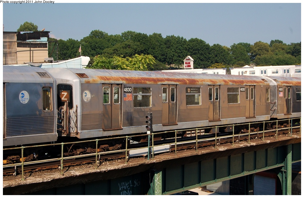 (337k, 1044x682)<br><b>Country:</b> United States<br><b>City:</b> New York<br><b>System:</b> New York City Transit<br><b>Location:</b> East New York Yard/Shops<br><b>Car:</b> R-42 (St. Louis, 1969-1970)  4830 <br><b>Photo by:</b> John Dooley<br><b>Date:</b> 8/17/2011<br><b>Viewed (this week/total):</b> 1 / 448