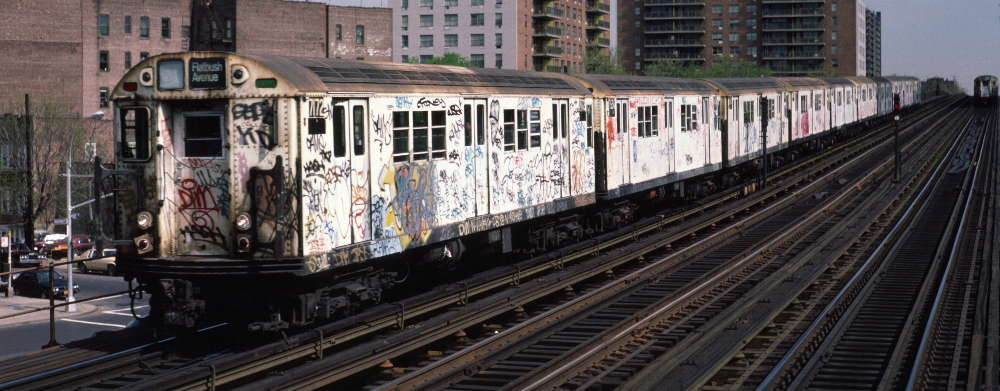 (68k, 1000x391)<br><b>Country:</b> United States<br><b>City:</b> New York<br><b>System:</b> New York City Transit<br><b>Line:</b> IRT White Plains Road Line<br><b>Location:</b> Pelham Parkway <br><b>Route:</b> 2<br><b>Car:</b> R-21 (St. Louis, 1956-57) 7172 <br><b>Photo by:</b> Robert Callahan<br><b>Date:</b> 4/1985<br><b>Viewed (this week/total):</b> 1 / 300
