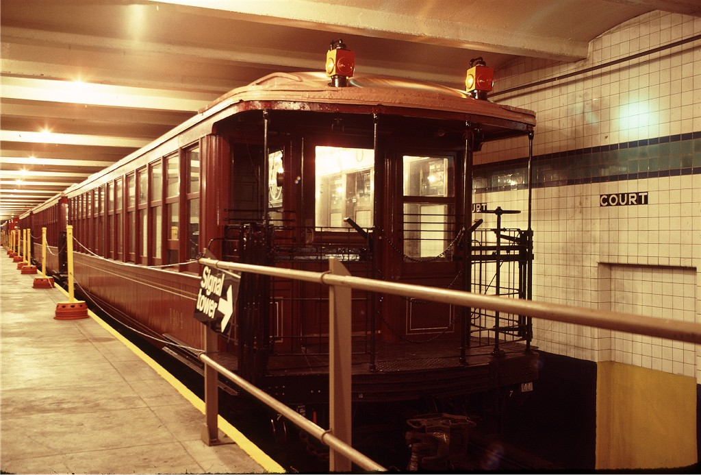 (199k, 1024x693)<br><b>Country:</b> United States<br><b>City:</b> New York<br><b>System:</b> New York City Transit<br><b>Location:</b> New York Transit Museum<br><b>Car:</b> BMT Elevated Gate Car 1404 <br><b>Photo by:</b> Doug Grotjahn<br><b>Collection of:</b> Joe Testagrose<br><b>Date:</b> 9/14/1979<br><b>Viewed (this week/total):</b> 6 / 991