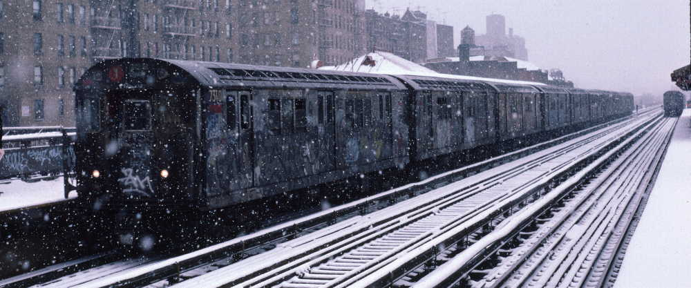(66k, 1000x417)<br><b>Country:</b> United States<br><b>City:</b> New York<br><b>System:</b> New York City Transit<br><b>Line:</b> IRT West Side Line<br><b>Location:</b> 231st Street <br><b>Route:</b> 1<br><b>Car:</b> R-22 (St. Louis, 1957-58) 7340 <br><b>Photo by:</b> Robert Callahan<br><b>Date:</b> 2/2/1985<br><b>Viewed (this week/total):</b> 0 / 223