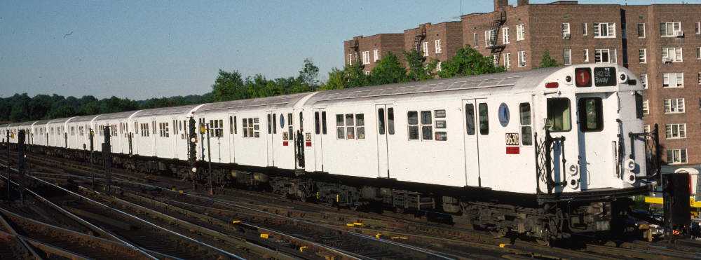 (66k, 1000x371)<br><b>Country:</b> United States<br><b>City:</b> New York<br><b>System:</b> New York City Transit<br><b>Line:</b> IRT West Side Line<br><b>Location:</b> 238th Street <br><b>Route:</b> 1<br><b>Car:</b> R-29 (St. Louis, 1962) 8630 <br><b>Photo by:</b> Robert Callahan<br><b>Date:</b> 9/21/1984<br><b>Viewed (this week/total):</b> 1 / 625