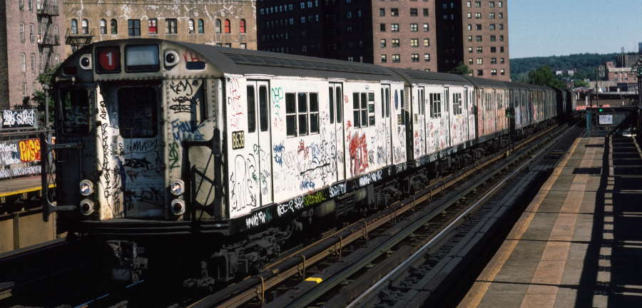 (65k, 900x432)<br><b>Country:</b> United States<br><b>City:</b> New York<br><b>System:</b> New York City Transit<br><b>Line:</b> IRT White Plains Road Line<br><b>Location:</b> 225th Street <br><b>Route:</b> 1<br><b>Car:</b> R-29 (St. Louis, 1962) 8638 <br><b>Photo by:</b> Robert Callahan<br><b>Date:</b> 10/6/1984<br><b>Viewed (this week/total):</b> 0 / 381