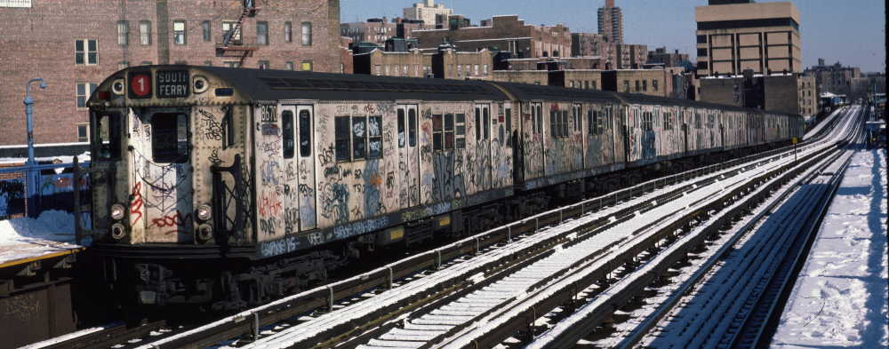 (68k, 1000x393)<br><b>Country:</b> United States<br><b>City:</b> New York<br><b>System:</b> New York City Transit<br><b>Line:</b> IRT West Side Line<br><b>Location:</b> 207th Street <br><b>Route:</b> 1<br><b>Car:</b> R-29 (St. Louis, 1962) 8670 <br><b>Photo by:</b> Robert Callahan<br><b>Date:</b> 2/3/1985<br><b>Viewed (this week/total):</b> 0 / 292