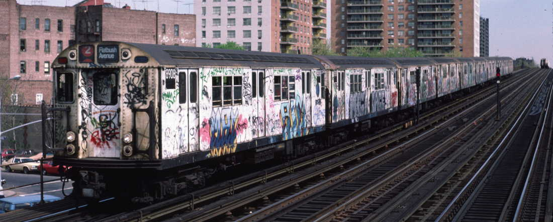 (70k, 1100x443)<br><b>Country:</b> United States<br><b>City:</b> New York<br><b>System:</b> New York City Transit<br><b>Line:</b> IRT White Plains Road Line<br><b>Location:</b> Pelham Parkway <br><b>Route:</b> 2<br><b>Car:</b> R-33 Main Line (St. Louis, 1962-63) 8908 <br><b>Photo by:</b> Robert Callahan<br><b>Date:</b> 4/1985<br><b>Viewed (this week/total):</b> 0 / 304