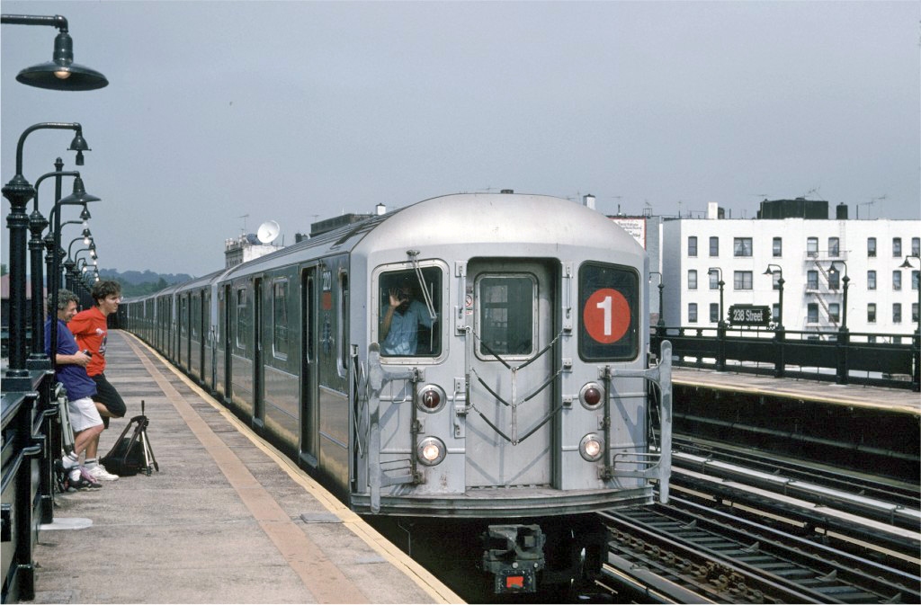 (231k, 1024x673)<br><b>Country:</b> United States<br><b>City:</b> New York<br><b>System:</b> New York City Transit<br><b>Line:</b> IRT West Side Line<br><b>Location:</b> 238th Street <br><b>Route:</b> 1<br><b>Car:</b> R-62A (Bombardier, 1984-1987)  2210 <br><b>Photo by:</b> Glenn L. Rowe<br><b>Collection of:</b> Joe Testagrose<br><b>Date:</b> 9/8/1996<br><b>Viewed (this week/total):</b> 4 / 742