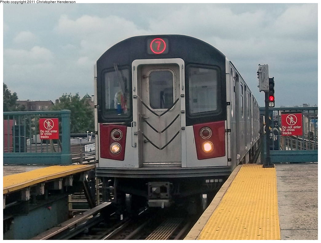 (326k, 1044x792)<br><b>Country:</b> United States<br><b>City:</b> New York<br><b>System:</b> New York City Transit<br><b>Line:</b> IRT Flushing Line<br><b>Location:</b> Junction Boulevard <br><b>Route:</b> 7 testing<br><b>Car:</b> R-142A (Primary Order, Kawasaki, 1999-2002)  7510 <br><b>Photo by:</b> Christopher Henderson<br><b>Date:</b> 9/21/2011<br><b>Viewed (this week/total):</b> 2 / 994