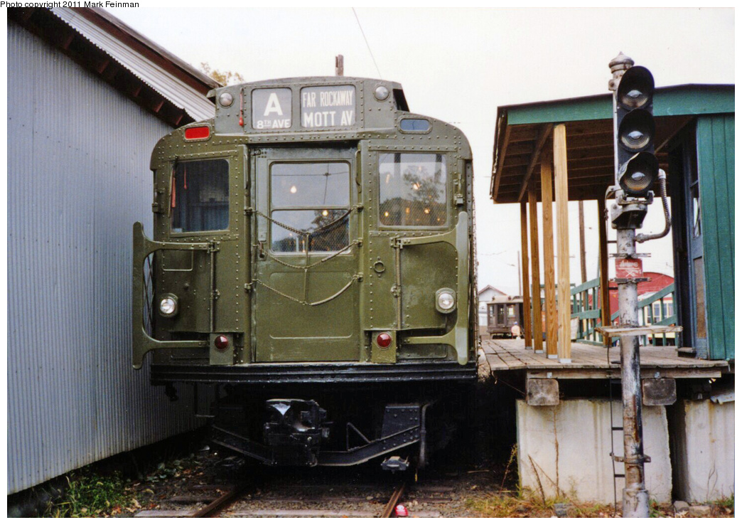 (354k, 1044x738)<br><b>Country:</b> United States<br><b>City:</b> East Haven/Branford, Ct.<br><b>System:</b> Shore Line Trolley Museum <br><b>Car:</b> R-9 (American Car & Foundry, 1940)  1689 <br><b>Photo by:</b> Mark S. Feinman<br><b>Date:</b> 10/8/1994<br><b>Viewed (this week/total):</b> 4 / 548
