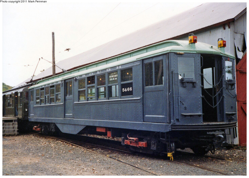 (350k, 1044x749)<br><b>Country:</b> United States<br><b>City:</b> East Haven/Branford, Ct.<br><b>System:</b> Shore Line Trolley Museum <br><b>Car:</b> Low-V 5466 <br><b>Photo by:</b> Mark S. Feinman<br><b>Date:</b> 10/8/1994<br><b>Viewed (this week/total):</b> 0 / 106