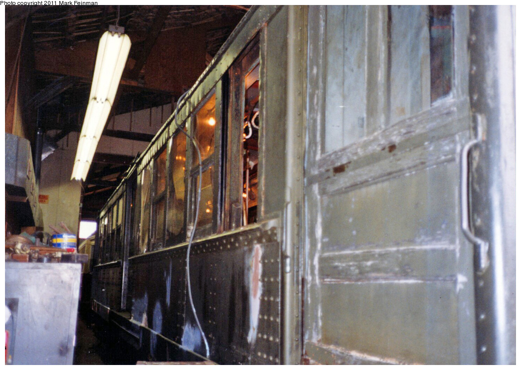 (348k, 1044x741)<br><b>Country:</b> United States<br><b>City:</b> East Haven/Branford, Ct.<br><b>System:</b> Shore Line Trolley Museum <br><b>Car:</b> Hi-V 3662 <br><b>Photo by:</b> Mark S. Feinman<br><b>Date:</b> 10/8/1994<br><b>Viewed (this week/total):</b> 2 / 124