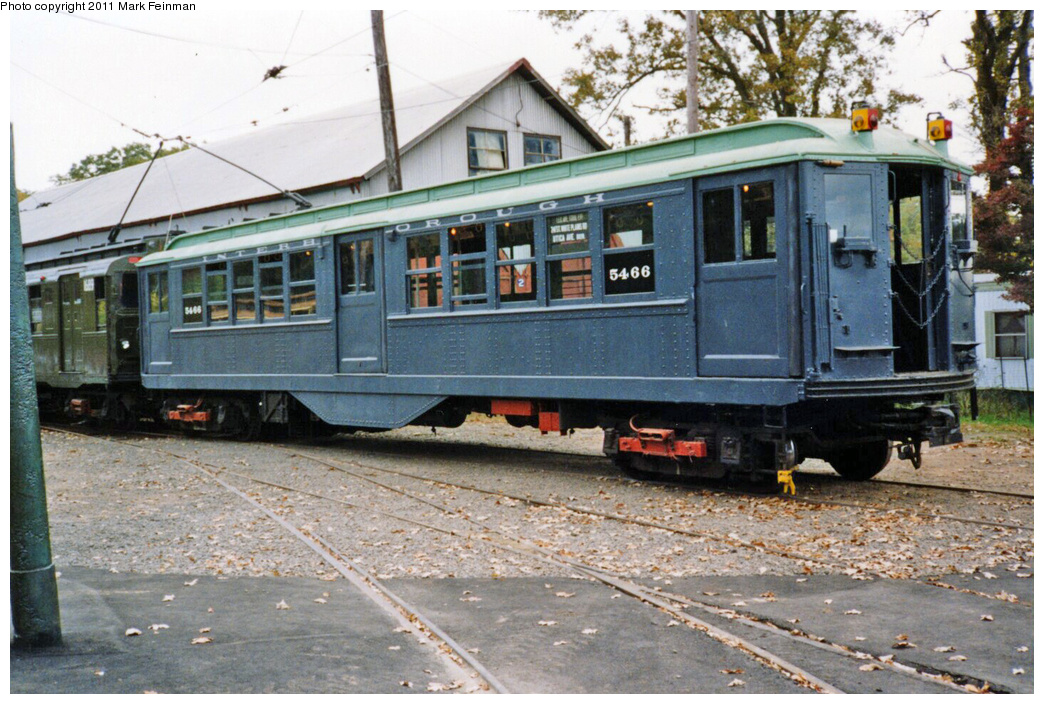 (405k, 1044x704)<br><b>Country:</b> United States<br><b>City:</b> East Haven/Branford, Ct.<br><b>System:</b> Shore Line Trolley Museum <br><b>Car:</b> Low-V 5466 <br><b>Photo by:</b> Mark S. Feinman<br><b>Date:</b> 10/8/1994<br><b>Viewed (this week/total):</b> 3 / 193