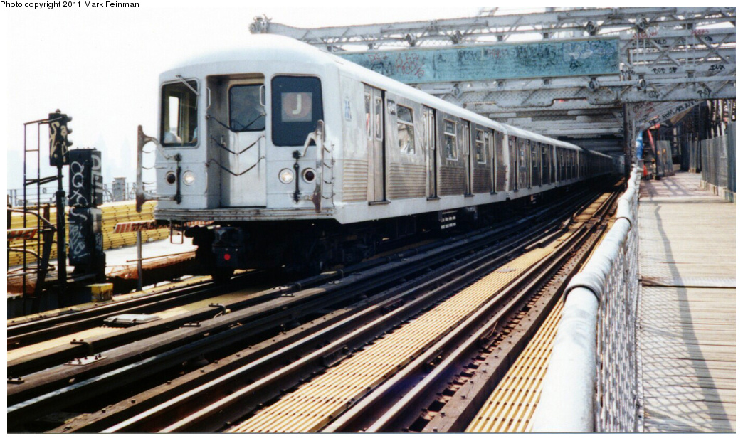 (346k, 1044x620)<br><b>Country:</b> United States<br><b>City:</b> New York<br><b>System:</b> New York City Transit<br><b>Line:</b> BMT Nassau Street/Jamaica Line<br><b>Location:</b> Williamsburg Bridge<br><b>Route:</b> J<br><b>Car:</b> R-42 (St. Louis, 1969-1970)  4841 <br><b>Photo by:</b> Mark S. Feinman<br><b>Date:</b> 7/1994<br><b>Viewed (this week/total):</b> 3 / 704