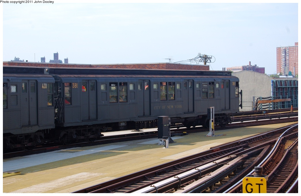 (267k, 1044x681)<br><b>Country:</b> United States<br><b>City:</b> New York<br><b>System:</b> New York City Transit<br><b>Location:</b> Coney Island/Stillwell Avenue<br><b>Route:</b> Fan Trip<br><b>Car:</b> R-1 (American Car & Foundry, 1930-1931) 381 <br><b>Photo by:</b> John Dooley<br><b>Date:</b> 7/23/2011<br><b>Viewed (this week/total):</b> 1 / 275