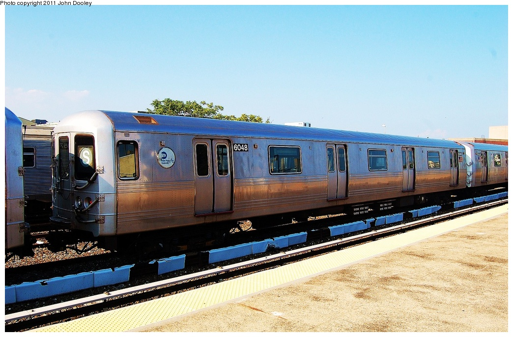 (349k, 1044x686)<br><b>Country:</b> United States<br><b>City:</b> New York<br><b>System:</b> New York City Transit<br><b>Location:</b> Rockaway Park Yard<br><b>Car:</b> R-46 (Pullman-Standard, 1974-75) 6048 <br><b>Photo by:</b> John Dooley<br><b>Date:</b> 8/20/2011<br><b>Viewed (this week/total):</b> 1 / 774