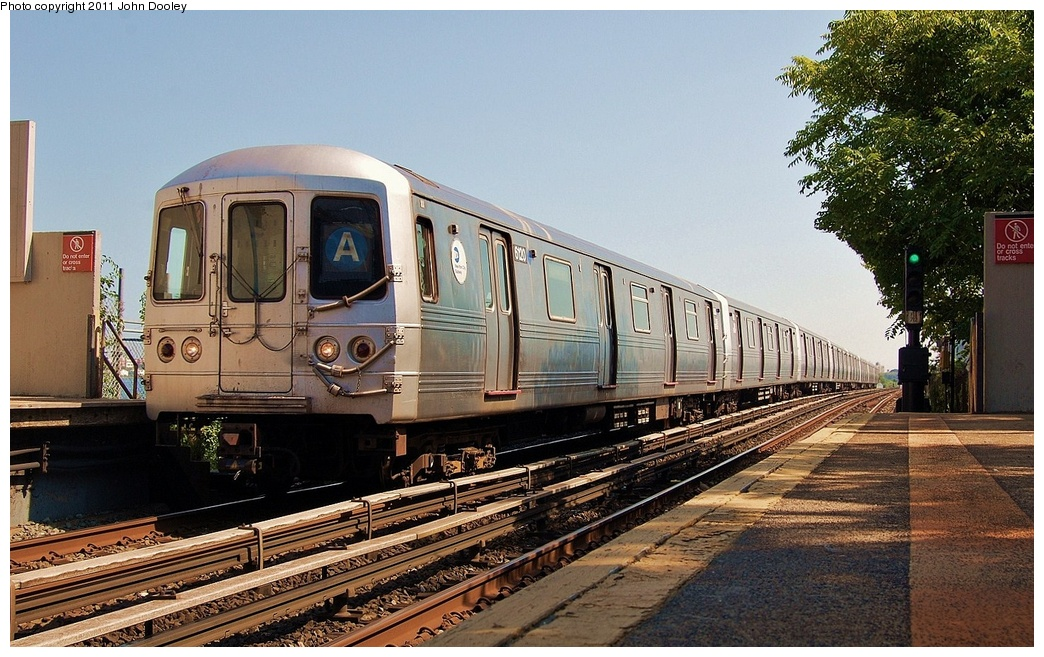 (360k, 1044x657)<br><b>Country:</b> United States<br><b>City:</b> New York<br><b>System:</b> New York City Transit<br><b>Line:</b> IND Rockaway<br><b>Location:</b> Broad Channel <br><b>Route:</b> A<br><b>Car:</b> R-46 (Pullman-Standard, 1974-75) 6120 <br><b>Photo by:</b> John Dooley<br><b>Date:</b> 8/20/2011<br><b>Viewed (this week/total):</b> 2 / 292