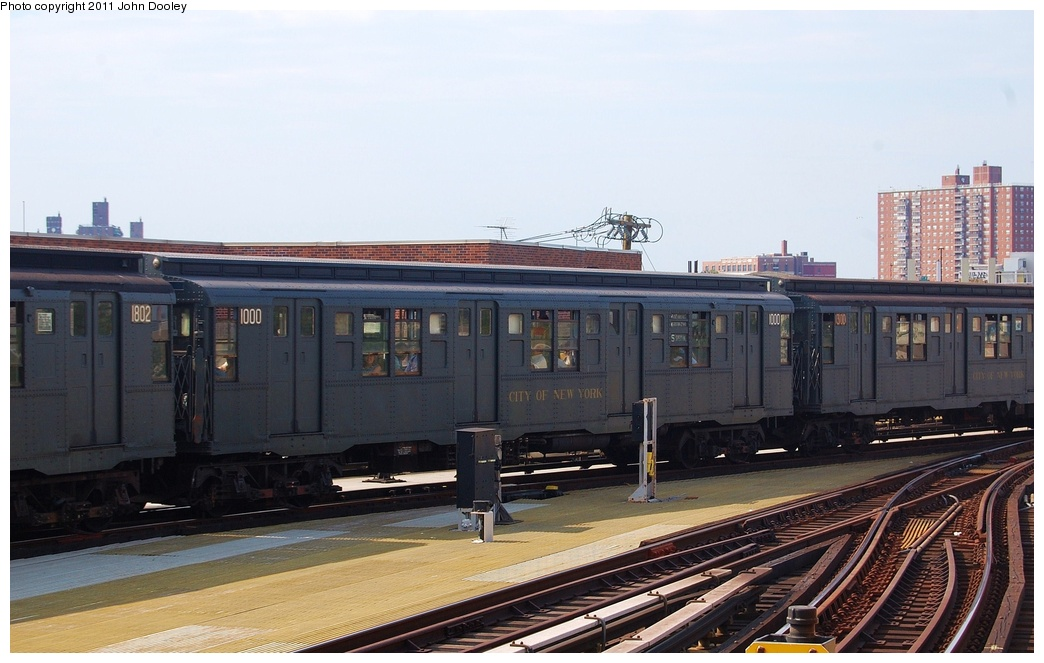 (275k, 1044x663)<br><b>Country:</b> United States<br><b>City:</b> New York<br><b>System:</b> New York City Transit<br><b>Location:</b> Coney Island/Stillwell Avenue<br><b>Route:</b> Fan Trip<br><b>Car:</b> R-6-3 (American Car & Foundry, 1935)  1000 <br><b>Photo by:</b> John Dooley<br><b>Date:</b> 7/23/2011<br><b>Viewed (this week/total):</b> 5 / 1184