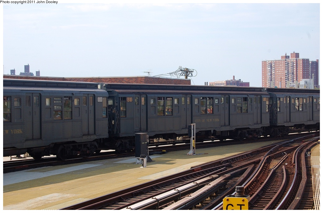(292k, 1044x688)<br><b>Country:</b> United States<br><b>City:</b> New York<br><b>System:</b> New York City Transit<br><b>Location:</b> Coney Island/Stillwell Avenue<br><b>Route:</b> Fan Trip<br><b>Car:</b> R-6-1 (Pressed Steel, 1936)  1300 <br><b>Photo by:</b> John Dooley<br><b>Date:</b> 7/23/2011<br><b>Viewed (this week/total):</b> 8 / 237
