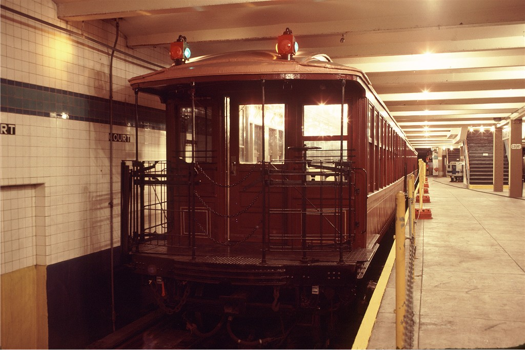 (178k, 1024x683)<br><b>Country:</b> United States<br><b>City:</b> New York<br><b>System:</b> New York City Transit<br><b>Location:</b> New York Transit Museum<br><b>Car:</b> BMT Elevated Gate Car 1407 <br><b>Photo by:</b> Doug Grotjahn<br><b>Collection of:</b> Joe Testagrose<br><b>Date:</b> 9/14/1979<br><b>Viewed (this week/total):</b> 2 / 253